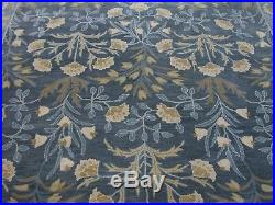 8' x 10' Pottery Barn Adeline Rug Blue New Hand Tufted Wool Carpet