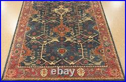 8' x 10' Pottery Barn Channing Indigo Rug New Hand Tufted Wool Carpet