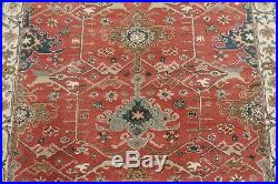 8' x 10' Pottery Barn Channing Rug Red New Hand Tufted Wool Carpet