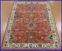 8' x 10' Pottery Barn Channing Rug Red New Wool Hand Tufted Carpet