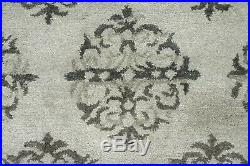 8' x 10' Pottery Barn Empire Scroll Rug Gray New Hand Tufted Wool Carpet