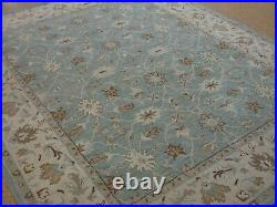 8' x 10' Pottery Barn Malika Rug Blue New Hand Tufted Wool Carpet