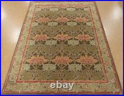 9' x 12' Pottery Barn Cecil Rug Green New Hand Tufted Wool Carpet