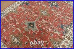 9' x 12' Pottery Barn Channing Rug Red New Hand Tufted Wool Carpet