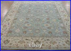 9' x 12' Pottery Barn Malika Rug Blue New Hand Tufted Wool Carpet