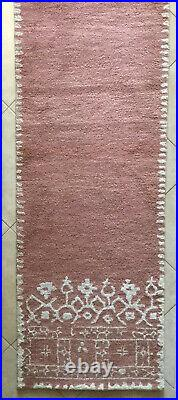 BEAUTIFUL Pottery Barn THICK 100% Wool DESA Runner RUG 2.5 X 9 HAND Tufted