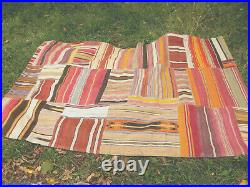 Beautiful Vintage Kilim Patchwork Rug 5 X 8 Pottery Barnhandmade One Of A Kind