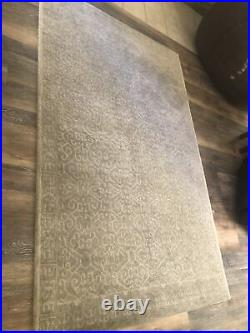 Luna Tonal Tufted Wool Rug, 5x8', Gray Brand new in Package