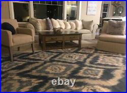 New 8 X 10 Area Rug Williams Sonoma Brand/Pottery Barn/ Wool/ River IKat/Blue