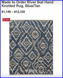 New Rug 9x12 Williams Sonoma Brand / Pottery Barn -Wool Hand Knotted / India