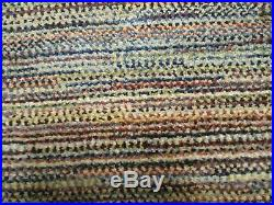POTTERY BARN 3 x 10' MELANGE GABBEH HAND KNOTTED RUG
