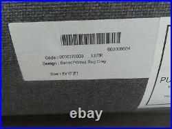POTTERY BARN Barret Hand Loomed Wool Rug8 X 10GRAYNEW With TAGS