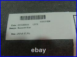 POTTERY BARN Bosworth Hand Tufted Wool RugRUNNER-2.5 X 9-BLUE-NWT-$399