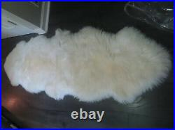POTTERY BARN Double-Pelt Sheepskin RugIVORY-NEW With TAGS-$199
