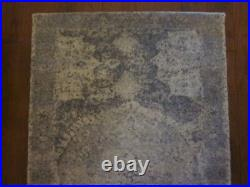 Pottery Barn Barret Printed Wool Rug 3x5 Gray New Muted Medallion