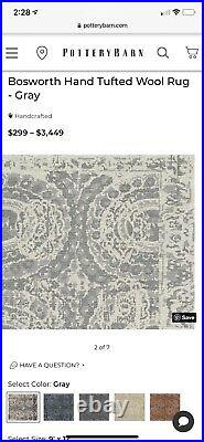 Pottery Barn Bosworth Hand tufted Wool Rug Gently Used Reduced $850