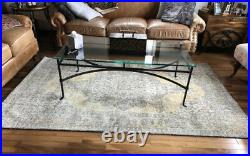 Pottery Barn Brant Rug 5x8 Medallion Hand Woven Wool Authentic Retails $359