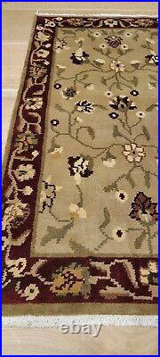Pottery Barn Camilla Floral Hand Knotted Beige Red Tibetan Wool Rug 3' X 5