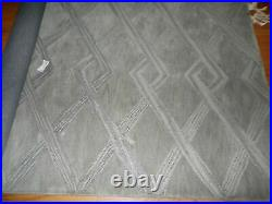Pottery Barn Chase Tufted Wool Rug, 5 X 8', New, Gray, Geo Design