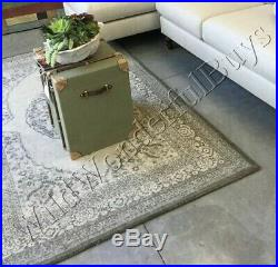 Pottery Barn Elyse Rug 5x8 Medallion Tufted Wool Authentic Retails $799