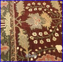 Pottery Barn Franklin Rug 3x5 Hand Tufted Wool Red