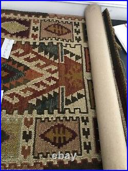 Pottery Barn Gianna Kilim Indoor Outdoor Fringe Rug 3 X 2 Recycled Materials