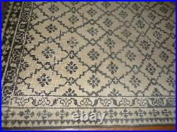 Pottery Barn Gwyn Hand Knotted Wool Rug, 5 X 8, Charcoal Gray New