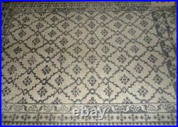 Pottery Barn Gwyn Hand Knotted Wool Rug, 5 X 8, Light Charcoal Gray New