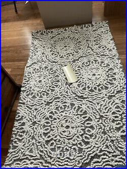 Pottery Barn Kids Rug 3x5 Wool Rug Authentic Audrey Floral Rug Taupe
