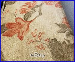 Pottery Barn Kismet Rug Coral 5x8L Romantic Floral Wool New Retail $599