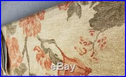 Pottery Barn Kismet Rug Coral 5x8L Romantic Floral Wool New Retails $599