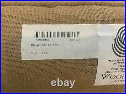 Pottery Barn Leaf Mocha Brown Color 100% Wool Area Rug 5' X 8' NEW Free Shipping