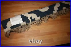 Pottery Barn Lily Runner Rug Blue 2.6x9 Flatweave Geometric Lilly New In Package