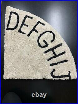 Pottery Barn Lorena Canals Washable ABC Round Modern Kids Rug Natural Black 5