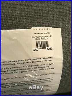 Pottery Barn Mahalia Printed Rug 5'x8' Blue Multi NEW 100% Authentic With Tags