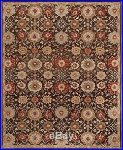 Pottery Barn Mona Oriental Handmade Wool Brown Floral Area Rug 8' x 10