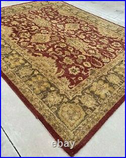 Pottery Barn Monjari 100% Wool Rug 8 x 10 feet Red and Gold Colors