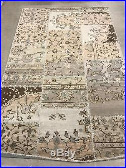 Pottery Barn Montgomery Patchwork Rug 5' x 8' Brand NEW Multi Blue