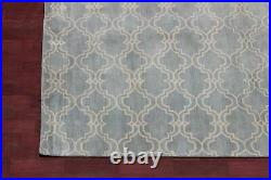 Pottery Barn Moroccan Scroll Tile Blue Handmade Wool Area Rug 10' x 14
