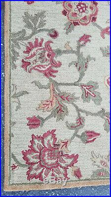 Pottery Barn Multi Colors Hand Tufted Palampore Floral Wool Area Rug 8' X 10