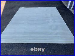 Pottery Barn Outlet Green Stripe Wool Area Rug 8x10