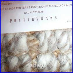 Pottery Barn Rug Pre own Chunk Natural Wool With the under liner great condtion