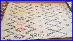 Pottery Barn Teen EM Bright Capert Moroccan Rug 100% Wool Size 5ft x8ft