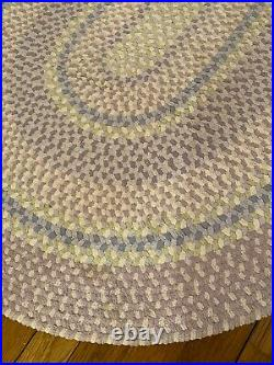 Pottery Barn braided multicolor lavender oval rugs. Excellent condition. 2 total