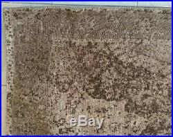 Pottery barn Barret Printed wool Rug Neutral 5 x 8 Timeworn look Authentic