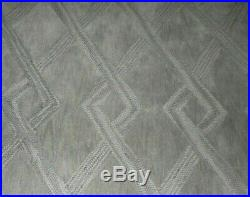 Pottery barn Gray Chase Tufted Rug 5 x 8 Authentic Wool Geo design