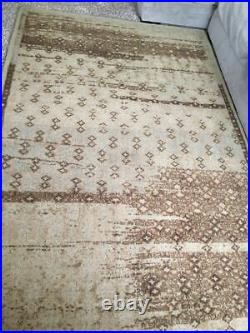 Pottery barn Tadia Wool Rug 5 x 8 neutral Authentic hand tufted timeworn look