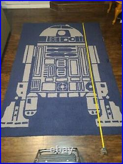 Star Wars R2-D2 Rug 5'X7' Pottery Barn Kids ORIGINAL! USED with some Wear