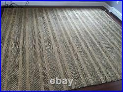 Thick Pottery Barn jute twill area rug from India 8 x 10, originally $900